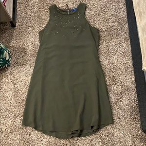 Army green business style dress